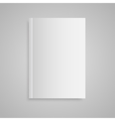 Blank empty magazine or book Mock up One vector image