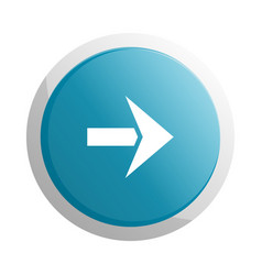 blue round button with next arrow symbol vector image