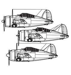 Brewster f2a buffalo vector