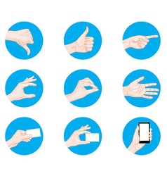 business hand gestures icon vector image