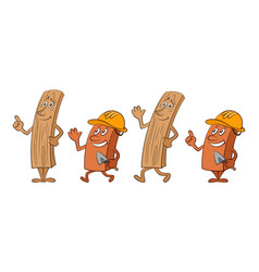cartoon boards and workers vector image