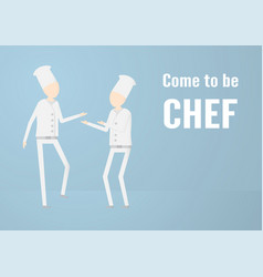 character design of chef that is talking isolated vector image
