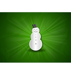 christmas background shine green snowman vector image vector image