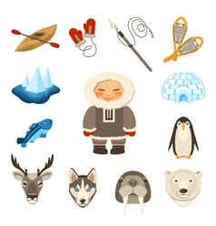 Chukchi Icons Set vector