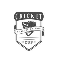 cricket cup logotype vector image