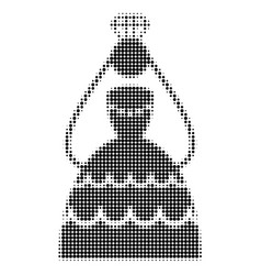 crowned bride halftone dotted icon vector image