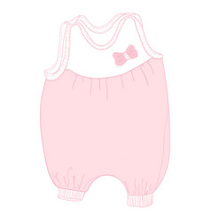 cute bodysuitromper suit pram suit playsuit vector image