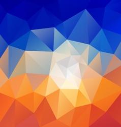desert blue sky polygon triangular pattern vector image