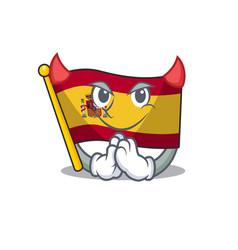 Devil flag spain isolated in cartoon vector