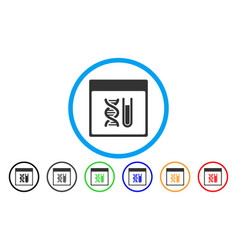Dna analysis calendar page rounded icon vector