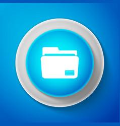 document folder icon isolated on blue background vector image