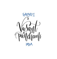 February 1 - vasant panchami - india hand vector