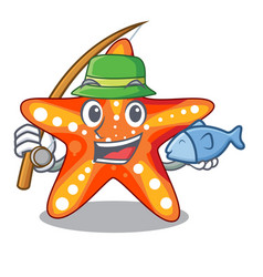 Fishing starfish isolated with in the cartoons vector