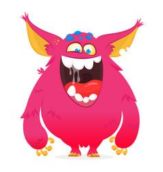 funny cartoon monster vector image
