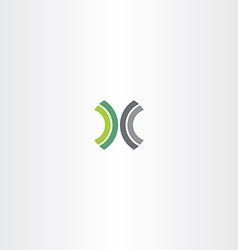 Green black letter x logo element vector