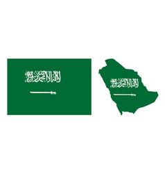 green flag saudi arabia with a sword and vector image