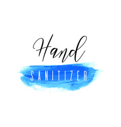 Hand sanitizer blue ink icon coronavirus vector
