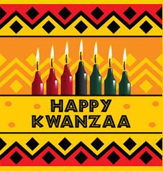 Happy kwanzaa holiday background vector