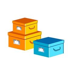 Icon boxes vector