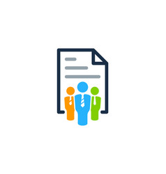 Job document logo icon design vector