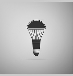 led light bulb icon isolated on grey background vector image