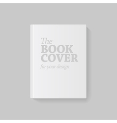 Light Realistic Blank book cover vector image