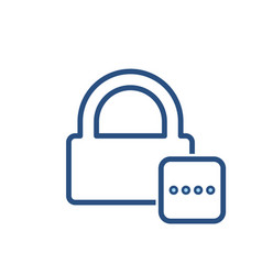 Lock office password protected safe icon vector