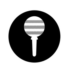Maraca instrument isolated icon vector