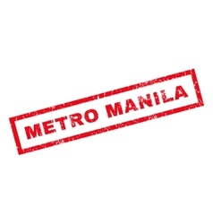 Metro Manila Rubber Stamp vector