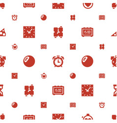 Minute icons pattern seamless white background vector