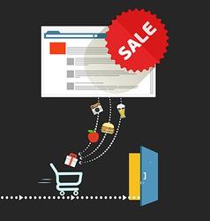 Modern digital shop concept vector
