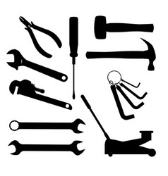 Motor mechanics tools vector