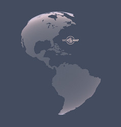 north and south america earth globe global vector image