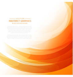 Orange wavy background with abstract shapes vector