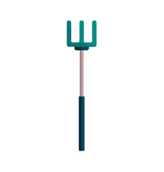 pitchfork for gardening and farming works - rural vector image