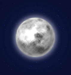 Planet moon background night sky cartoon style vector