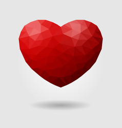 polygonal heart geometric sign of vector image