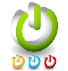 Power button power symbol graphics eps10 vector