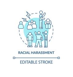 Racial harassment concept icon vector