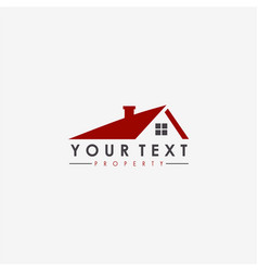 real estate apartment property business logo vector image