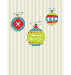 Red blue and green Christmas vector