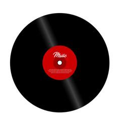 retro vinyl record with red label vector image