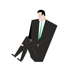 Sad businessman sorrowful boss crying guy sadness vector