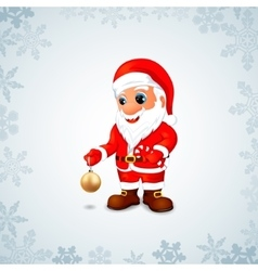 Santa Claus with Christmas toys and candy vector image