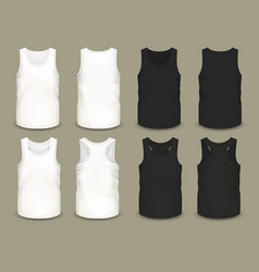 Set of isolated men sport shirts or top apparel vector