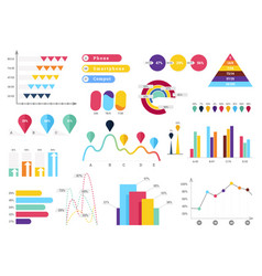 set of most useful infographic elements - bar vector image