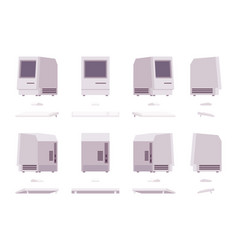 Set of old monoblock pc vector