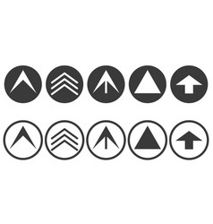 set scroll up icon icon and direction vector image