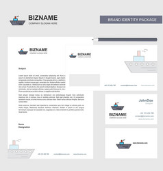 ship business letterhead envelope and visiting vector image