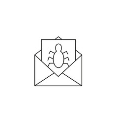 spam mail icon vector image